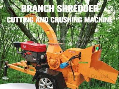 Factory direct supply power and durability tree branch shredder machine