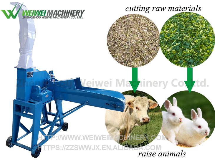 Weiwei Grass Grinder 9ZP-3 Automatic Feeding Type Feed Machines