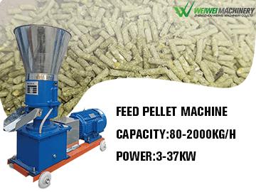 Weiwei animal feed pellet 60-80kg unique style prawn feed pellet mill machine
