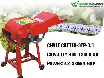 9ZP-0.4 Chaff Cutter capacity 400-1200kg/hr