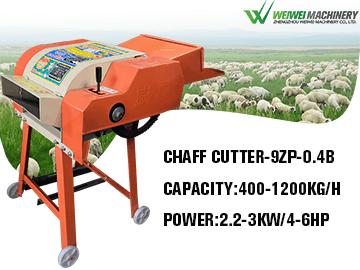 Weiwei 9ZP-0.4B Output 0.4-1.2Ton/h Grass Chopper Cutter Feed Processing Machine
