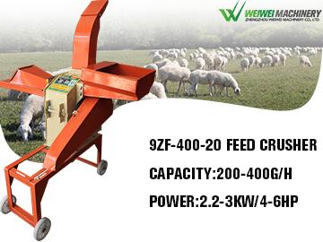weiwei 9ZF-400-20C straw crusher and grain grinder machine
