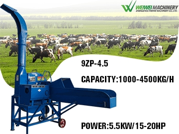 9ZP-4.5 Feed processing chaff cutter machine capacity 4.5t/h for silage shredder
