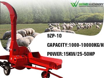 WEIWEI 10T chaff cutter ensilage chopper feed processing machine