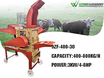 9ZF400-30 Grass Grinder Hammer Mill Crusher Corn Feed Grinder