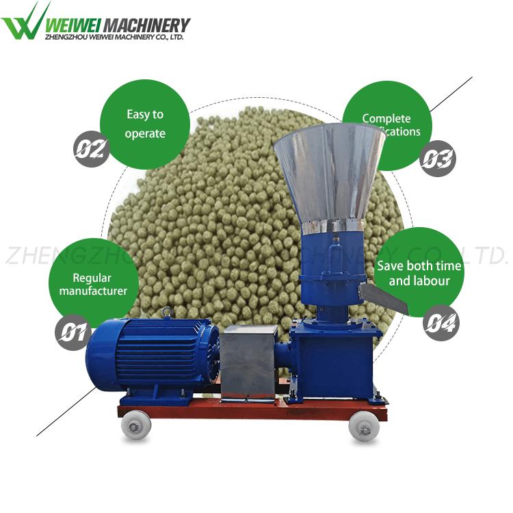 Weiwei feed pellet machine 9KLP-125 poultry making